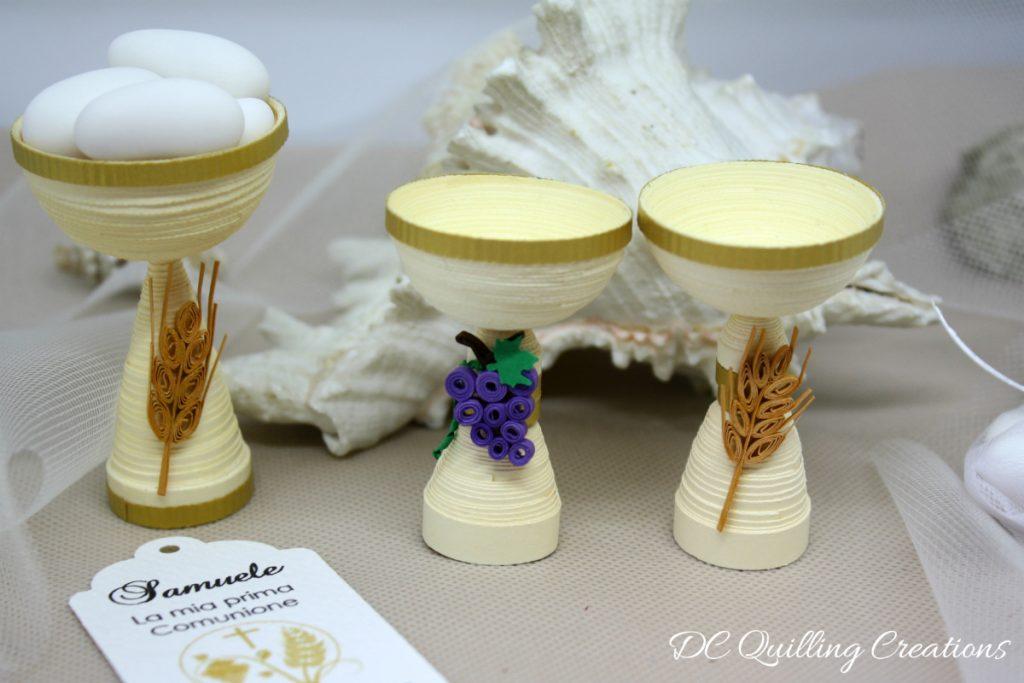 oggettistica per bomboniere segnaposto calice comunione