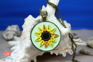 collana cammeo girasole quilling