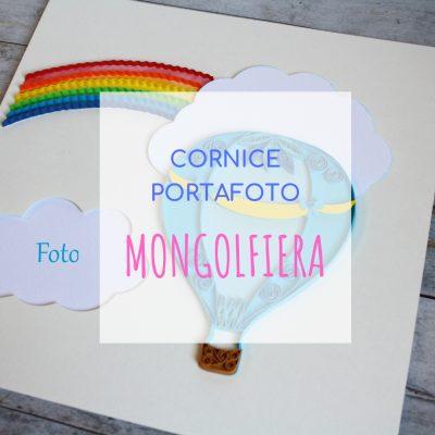 segnatavolo cornice portafoto tema mongolfiera