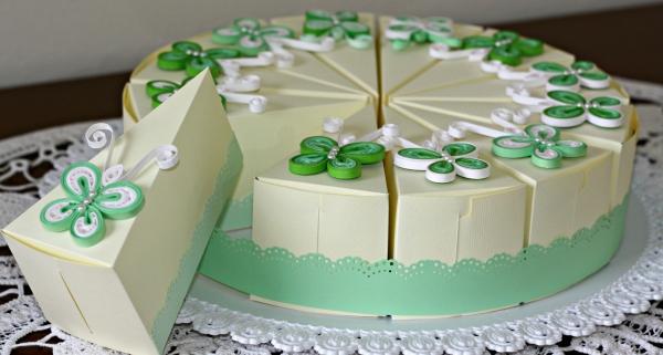 bomboniera fetta di torta battesimo