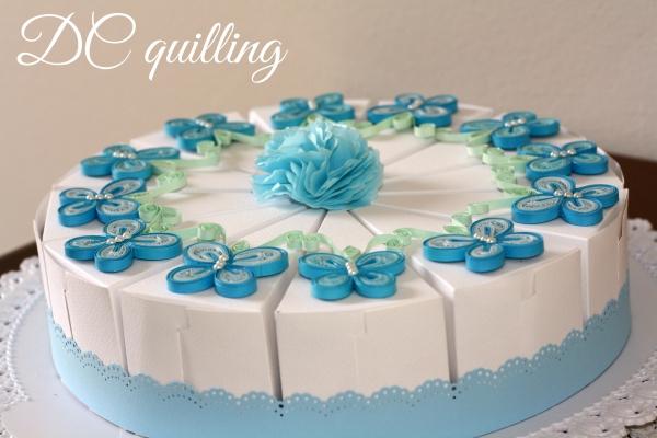 bomboniere battesimo fetta di torta