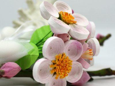 fiori di carta quilling per bomboniere