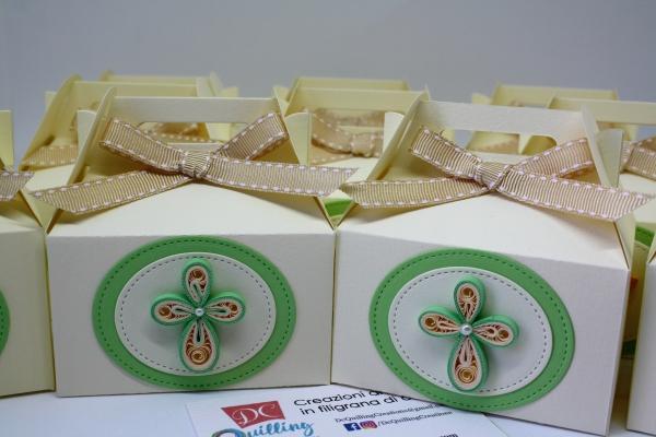 scatoline portaconfetti modello picnic prima comunione