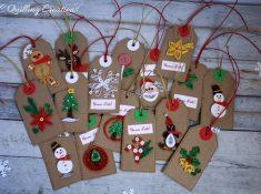 etichette per regali fatte a mano in quilling