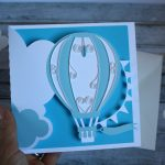 biglietto nascita mongolfiera