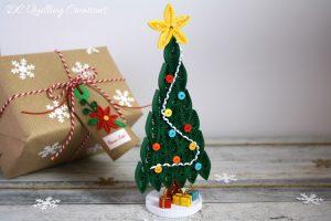 segnaposto albero di Natale fatto a mano