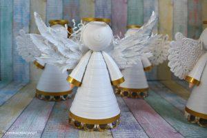 angelo custode addobbo natale fatto a mano