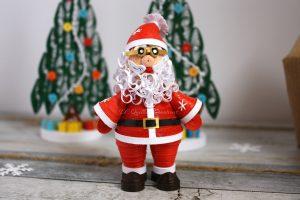 decorazione babbo Natale miniatura 3d