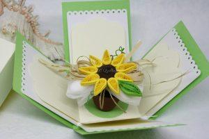 bomboniera matrimonio vaso girasole