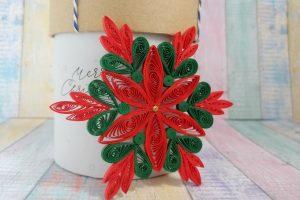 addobbo natalizio originale filigrana di carta
