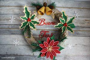 ghirlanda natalizia originale in quilling