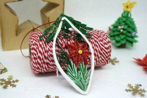addobbo natalizio carta quilling
