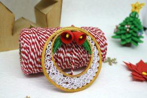 decorazione natalizia pallina quilling