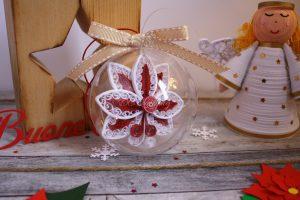 decorazione natalizia pallina 3d con fiocco di neve