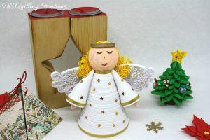 puntale albero angelo 3d