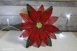 puntale albero a forma di stella di natale in quilling