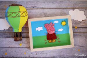 quadretto peppa pig idea regalo