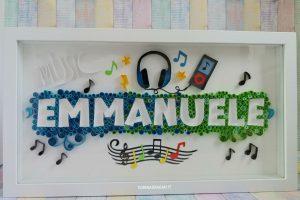 quadro personalizzato in quilling tema musicale