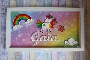 quadro unicorno regalo compleanno