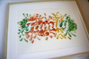 quadro familia quilling