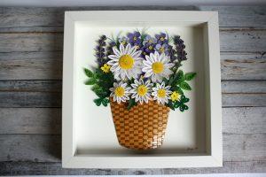 quadro 3d fiori primavera