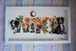 idea regalo compleanno quadro personalizzato con cani