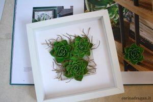 quadro artistico piante grasse quilling 3d