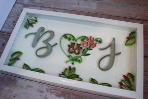 idee regalo matrimonio quadro sposi quilling