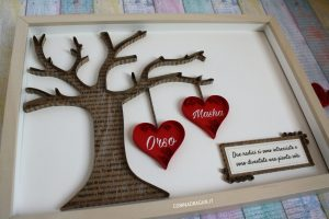 idea regalo san valentino quadro con dedica