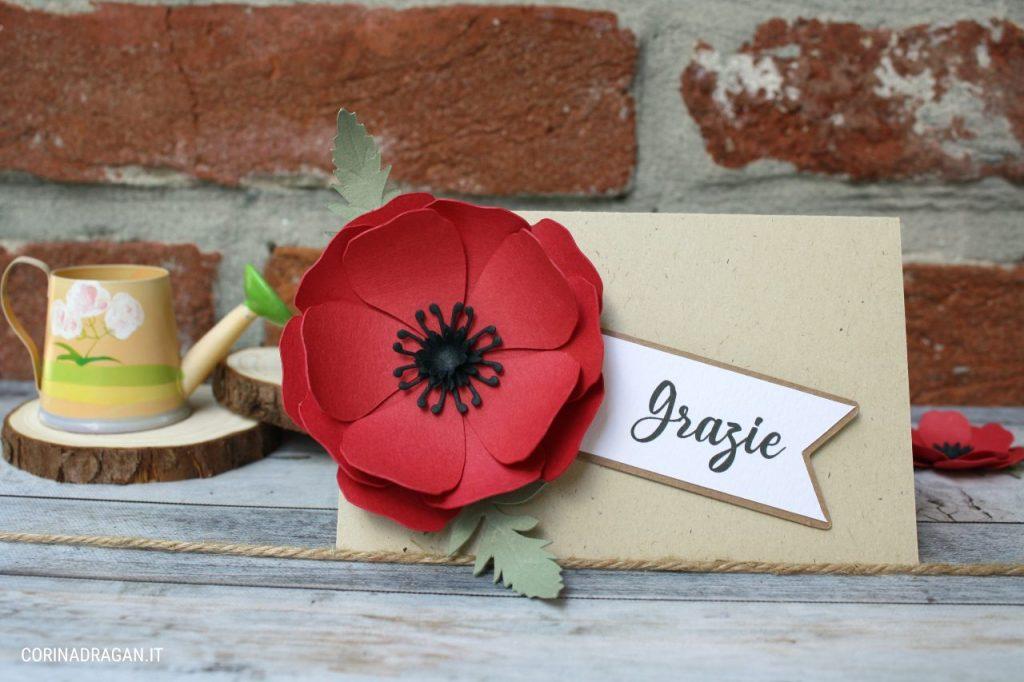 segnaposto matrimonio tema fiori