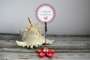 bomboniera battesimo memoclip fiore