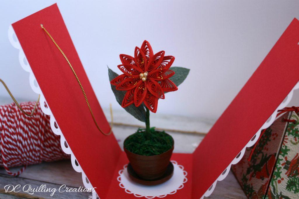 segnaposto stella di Natale quilling