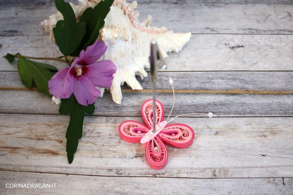 bomboniera battesimo memoclip farfalla