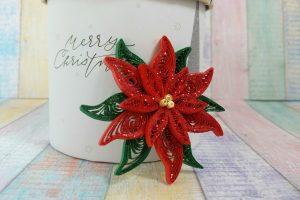 stella di Natale fatta a mano in quilling