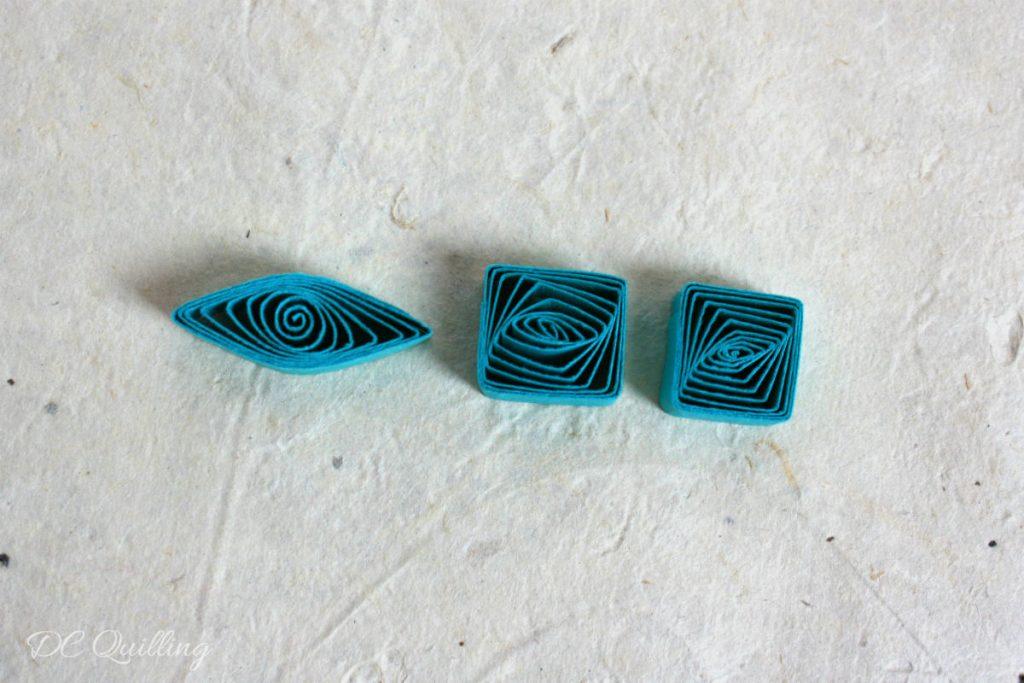 quadrato forma base quilling art