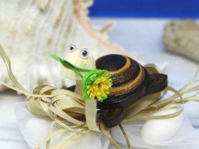 oggettistica per bomboniere segnaposto tartaruga quilling
