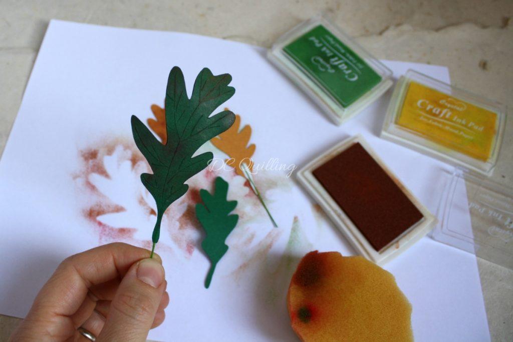 foglia di quercia in carta