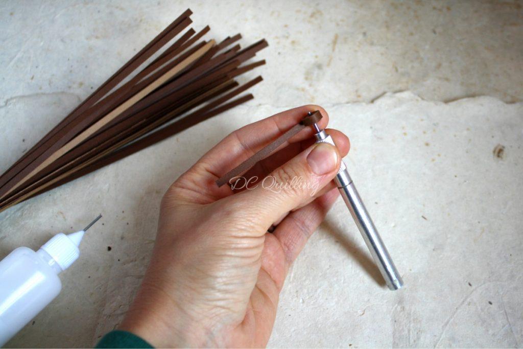 tutorial ghiande di carta quilling