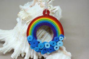 ciondolo collana arcobaleno handmade