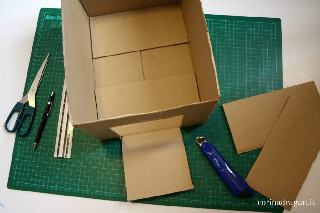 come riutilizzare una scatola di cartone