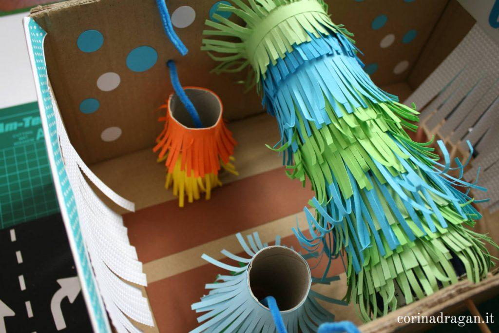 come decorare una scatola di cartone per bambini