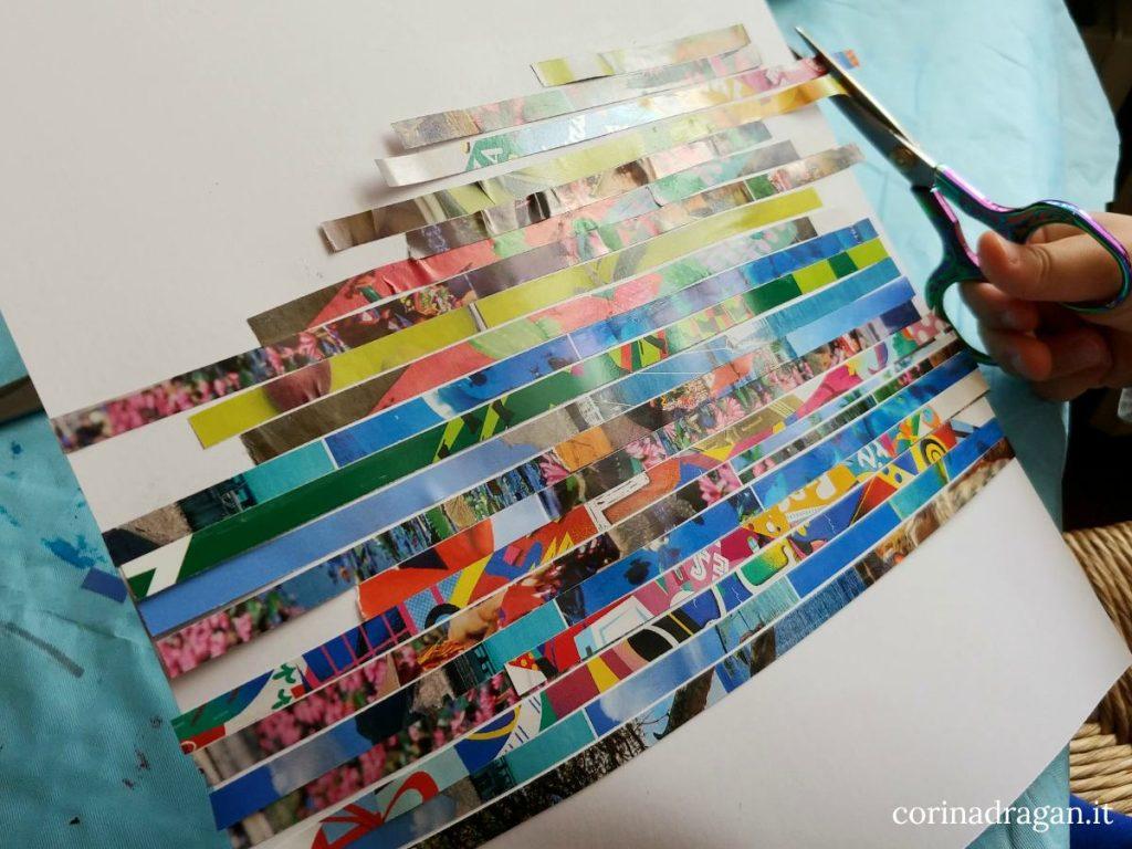 lavoretti con strisce di carta