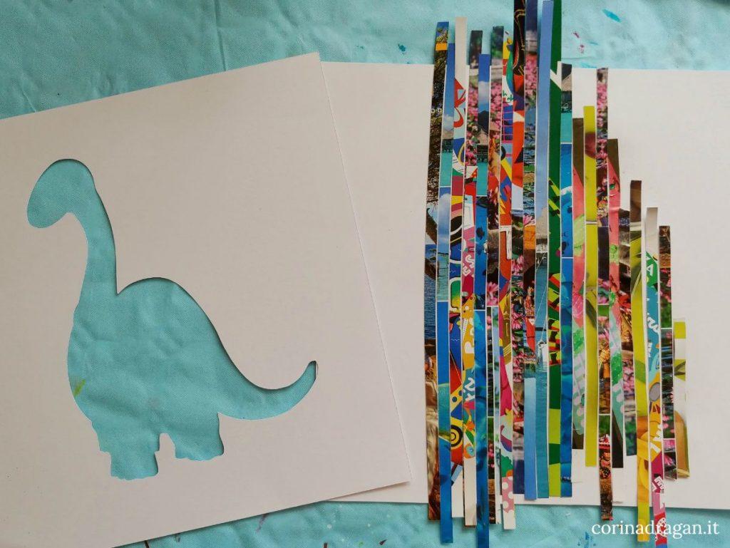 lavoretti per bambini con strisce di carta