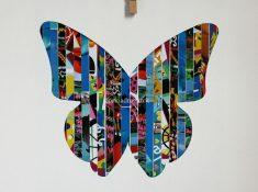 quadretto con strisce di carta