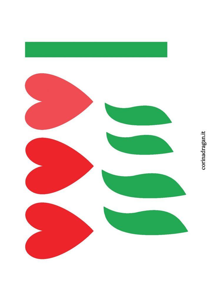 tulipani di carta da stampare gratis