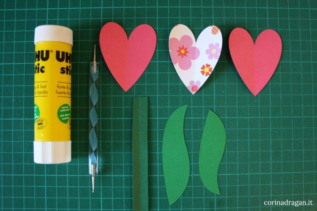 come fare tulipani di cara 3d per bambini