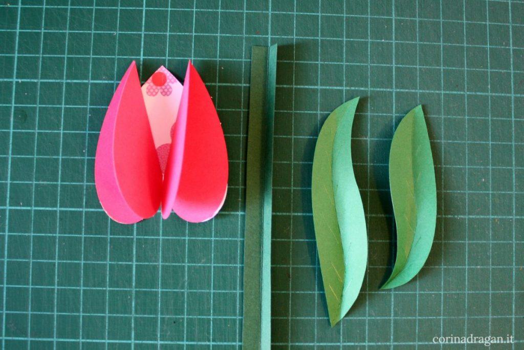 tulipani di carta per bambini lavoretto creativo