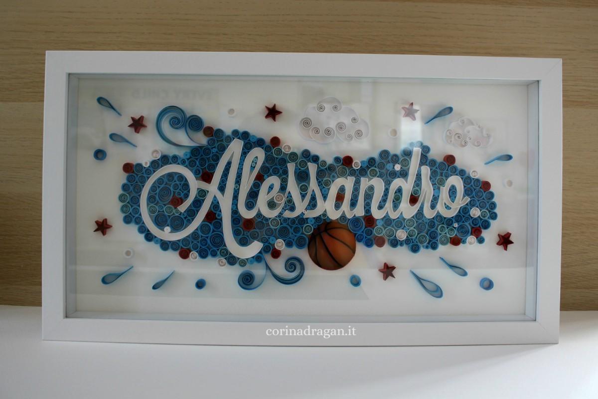 quadro personalizzato quillography art