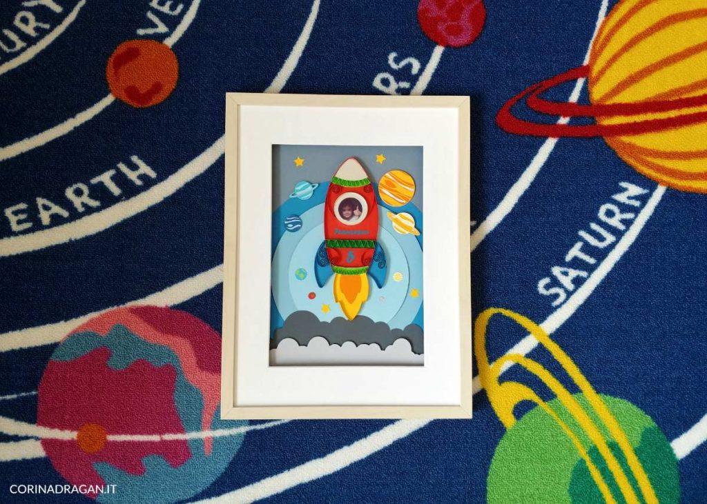 quadri da regalare compleanno bambino tema spazio