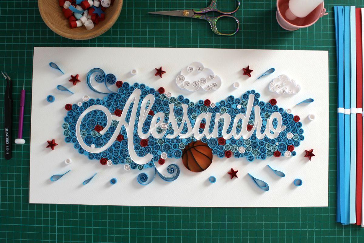 quadro personalizzato quillography